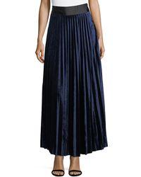 Goldie London | Pleated Velvet Maxi Skirt | Lyst