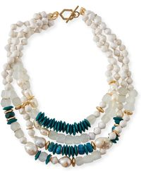 Akola - Four-strand Pearly Bead Necklace 20l - Lyst