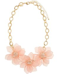 Fragments - Flower Statement Necklace - Lyst