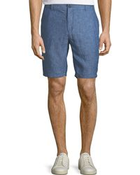 Neiman Marcus - Solid Chambray Shorts - Lyst