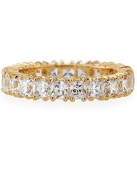 Fantasia by Deserio - Princess-cut Cubic Zirconia Eternity Band Ring - Lyst