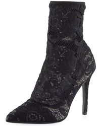 Charles David - Player Floral Lace Bootie - Lyst