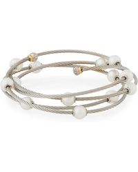 Alor - Cable Wrap Bangle W/ Freshwater Pearls - Lyst