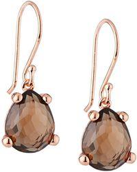 Ippolita Smoky Quartz Pear-shaped Drop Earrings - Brown