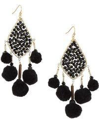 Nakamol - Beaded Pompom Crystal Kite Earrings - Lyst
