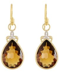 Jude Frances - Large Pear Stone Fleur Earring Charms - Lyst