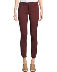 DL1961 Margaux Mid-rise Skinny Ankle Jeans Red