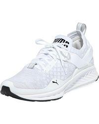 a9c683d8f8f Lyst - Puma The Benecio Leather Sneaker in White and Black in White ...
