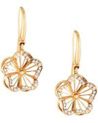 Roberto Coin - 18k Nouveau Diamond Floral Drop Earrings - Lyst