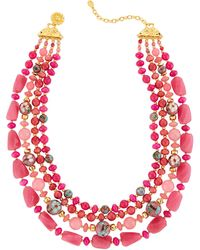 Jose & Maria Barrera - Four-strand Agate & Cloisonne Necklace - Lyst