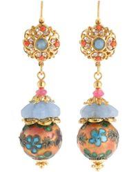 Jose & Maria Barrera - Mixed Pastel Bead Drop Earrings - Lyst