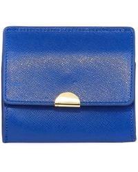 Neiman Marcus - Saffiano Flap Card Coin Pouch - Lyst