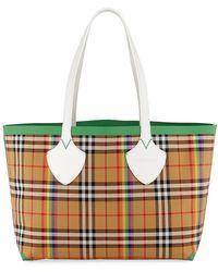 Burberry - Medium Giant Rainbow Vintage Check Tote Bag - Lyst