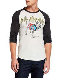 Chaser - Men's Def Leppard British Bulldog Baseball T-shirt - Lyst
