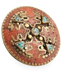 Devon Leigh - Antiqued Turquoise & Coral Statement Ring - Lyst