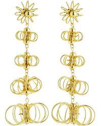 Kenneth Jay Lane - Graduating Flower Dangle Earrings - Lyst