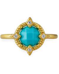 Freida Rothman Amazonian Allure Single-stone Cocktail Ring Size 9 - Multicolour