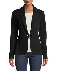 Neiman Marcus - Cashmere One-button Blazer Black - Lyst