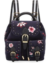Juicy Couture - Mini Embroidered Velour Backpack - Lyst
