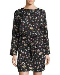 Goldie London - Overlook Floral-print Wrap Dress - Lyst