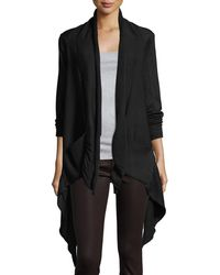 Neiman Marcus - Cascade Two-pocket Open-front Knit Cardigan - Lyst