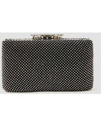 Lattelier Crystal Embellished Clutch Bag - Black