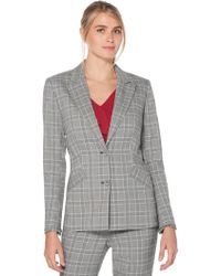 Laundry by Shelli Segal - Plaid Jacket - Lyst