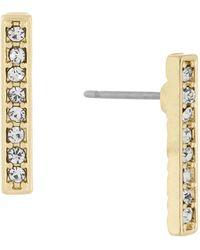 Laundry by Shelli Segal - Pave Bar Earrings - Lyst