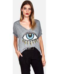 Lauren Moshi Brixton Cosmic Lightning Eye - Gray