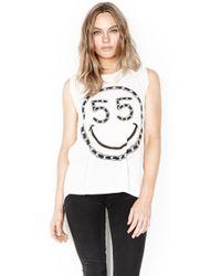Lauren Moshi - Riley Chain Happyface Sleeveless Muscle Tank - Final Sale - Lyst
