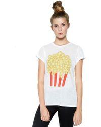 Lauren Moshi | Edda Foil Popcorn Vintage Tee Roll Up Sleeve | Lyst