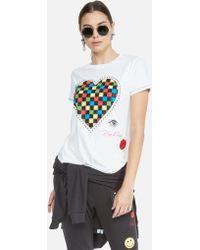 Lauren Moshi Aviana Rad Checkered Heart - White