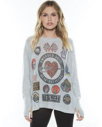 Lauren Moshi - Hollis Heart Breaker L/s Cashmere Pullover Sweater W/thumbholes - Lyst