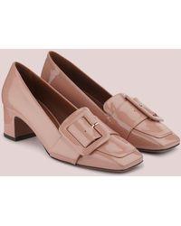 L'Autre Chose Loafer In Vernice Con Tacco - Rosa