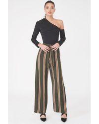 Lavish Alice Folded Over Wide Leg Woven Trouser 8 Uk - Multicolor