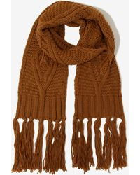 Lavish Alice - Rust Knit Scarf - Lyst