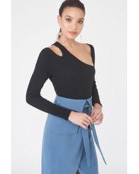 Lavish Alice - Rib Knit Bodysuit - Lyst