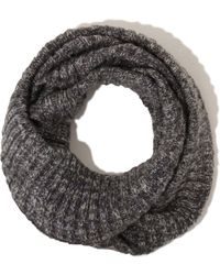 Lavish Alice - Salt & Pepper Knit Snood Scarf - Lyst