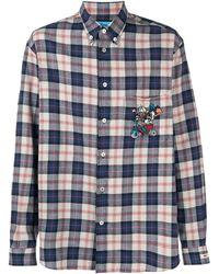 Gucci Camicia Paperino a quadri - Blu