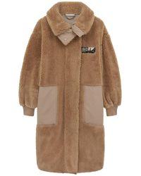 Stella McCartney Luna Coat In Teddy Mat - Natural