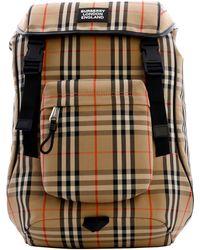 Burberry Backpack Vintage Check - Natural