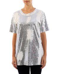 Balmain T-Shirt in Paillettes - Metallizzato