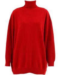 Balenciaga Cashmere Sweater Signature - Red