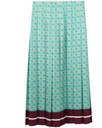 Gucci - Silk Skirt GG Print - Lyst