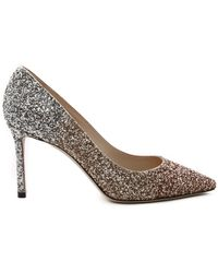 Jimmy Choo Romy 85 Degrade Glitter Pump - Metallic