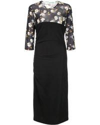 Off-White c/o Virgil Abloh Floral Dress Black