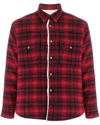 Saint Laurent Western Shearling Shirt - Red