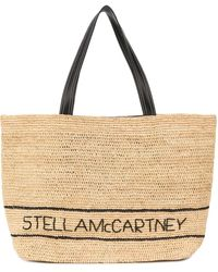 Stella McCartney Raffia Shopping Bag - Natural