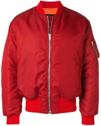 CALVIN KLEIN 205W39NYC Red Bomber Jacket