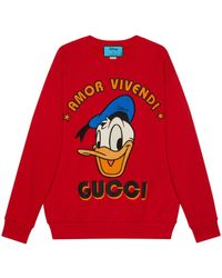 Gucci Donald Duck Sweatshirt - Red